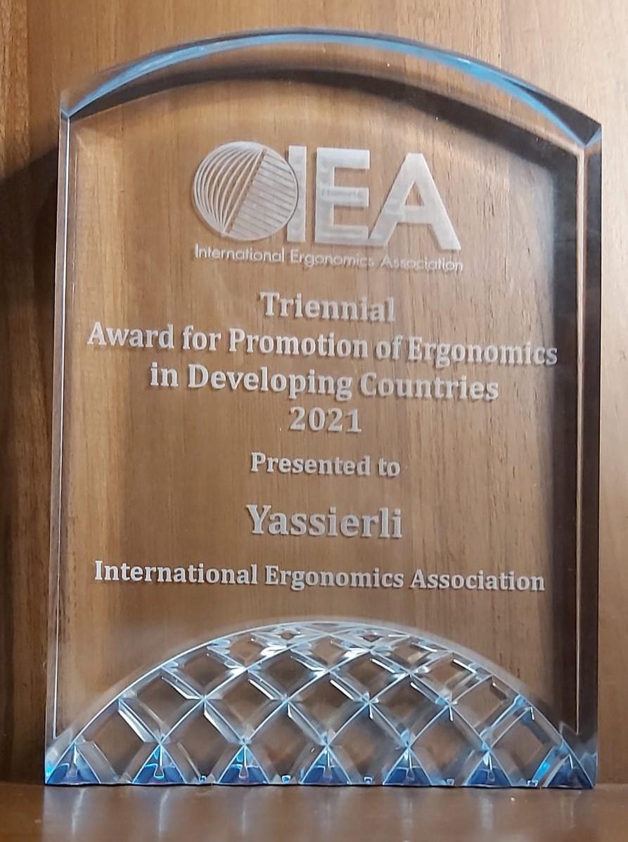 Prof. Yassierli, dosen Teknik Industri ITB mendapatkan penghargaan Triennial Award for Promotion of Ergonomics in Developing Countries 2021