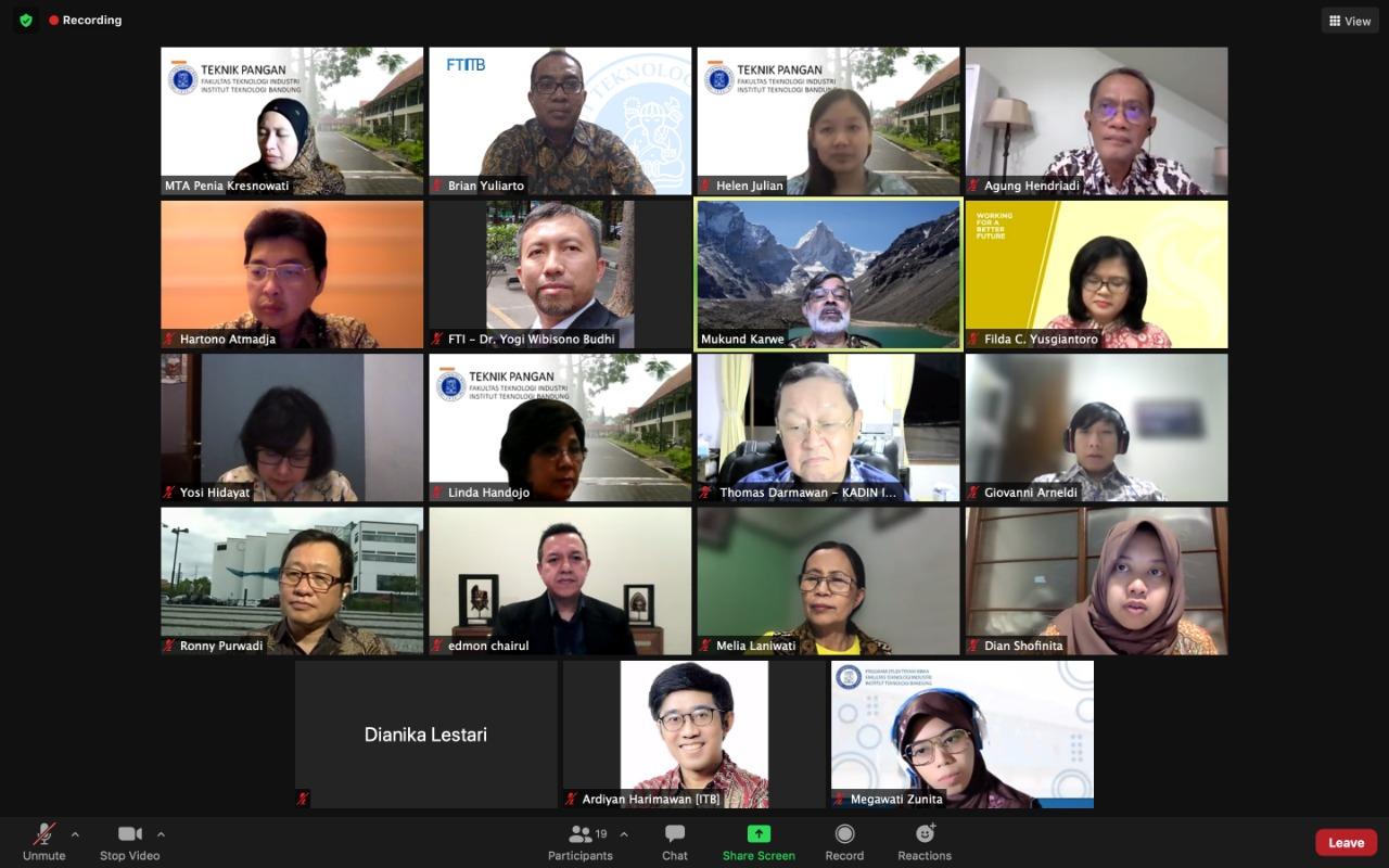 Pertemuan Advisory Board Program Studi Teknik Pangan FTI ITB