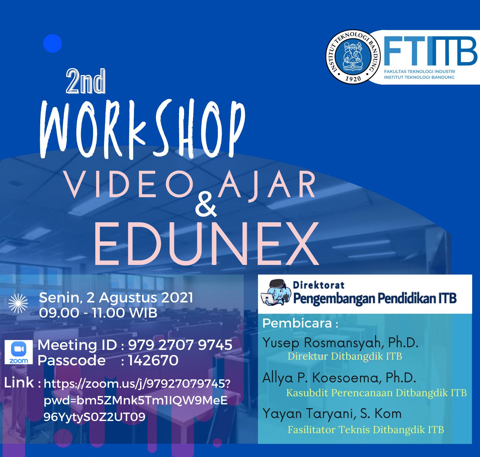 Paparan dan Diskusi tentang Pengembangan Video Ajar oleh Direktorat Pengembangan Pendidikan ITB – bagian 2