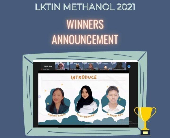 Mahasiswa FTI-ITB raih Winners Announcement LKTIN METHANOL 2021