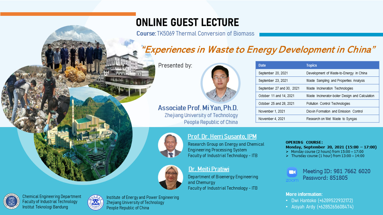 ONLINE GUEST LECTURE Course TK5069 Thermal Convension of Biomass